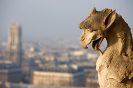 Paris pictures Wall Art as Canvas, Acrylic or Metal Print Notre Dame de Paris cathedral gargoyle