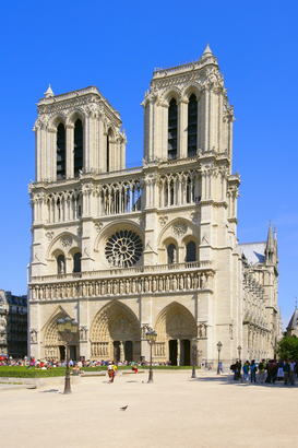 Paris pictures Wall Art as Canvas, Acrylic or Metal Print Notre Dame, Paris, France