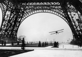 Paris pictures Wall Art as Canvas, Acrylic or Metal Print PARIS/EIFFEL TOWER 1926