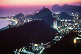 Affiches métropoles pour les toiles ou images murales sous acrylique par exemple OVERVIEW ON RIO DE JANEIRO FROM THE SUGARLOAF BRAZIL