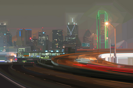 Pictures of America Wall Art as Canvas, Acrylic or Metal Print DALLAS NIGHT