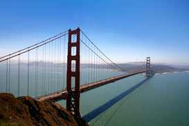 USA Foto's bijv. als canvasfoto of wandfoto achter acrylglas: Golden Gate Bridge