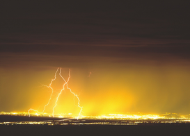 USA Foto's bijv. als canvasfoto of wandfoto achter acrylglas: Lightning, Albuquerque, New Mexico, USA