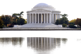 EE.UU. Imágenes p.ej., como imagen en lienzo o para la pared en metacrilato: Thomas Jefferson Memorial in Washington