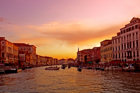 Venice pictures Wall Art as Canvas, Acrylic or Metal Print Venedig, Sonnenuntergang