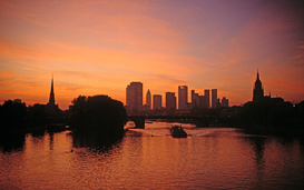 Foto: Duitsland - germany, frankfurt on main, and main river
