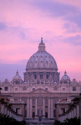 Foto: Europa - italy,rome, the vatican. saint peter's basilica and via conciliazione