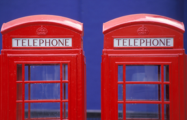Foto: Londen - great britain, london, telephone booths