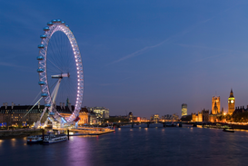 Foto: Londen - River Thames, London, England.