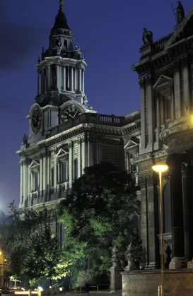 Foto: Londen - uk, england, london, st. paul cathedral, south side