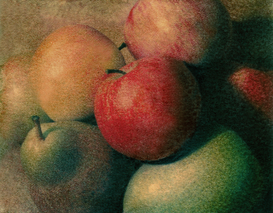 Still Life pictures Wall Art as Canvas, Acrylic or Metal Print apples and pears