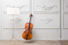 Other pictures Wall Art as Canvas, Acrylic or Metal Print Cello and music stand