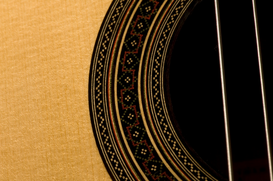 Stillevens Foto's bijv. als canvasfoto of wandfoto achter acrylglas: Close up of guitar strings