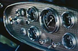 Transportation pictures Wall Art as Canvas, Acrylic or Metal Print Dashboard of an antique car