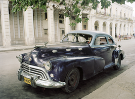 Transportation pictures Wall Art as Canvas, Acrylic or Metal Print Kuba - Oldtimer in Havanna