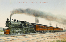 Train pictures Wall Art as Canvas, Acrylic or Metal Print Empire State Express
