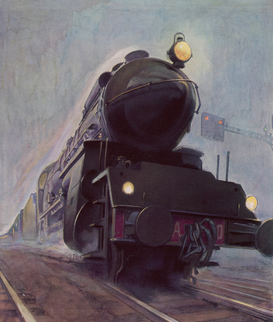 Transportation pictures Wall Art as Canvas, Acrylic or Metal Print FRENCH EXPRESS TRAIN