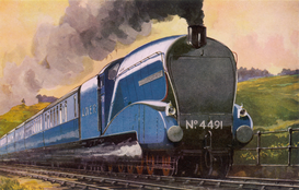 Train pictures Wall Art as Canvas, Acrylic or Metal Print LNER CORONATION (COLOUR