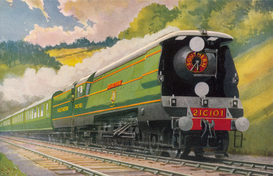 Railway pictures Wall Art as Canvas, Acrylic or Metal Print SOUTHERN RAILWAY EXPRESS