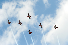 "Transportation pictures Wall Art as Canvas, Acrylic or Metal Print Kunstflugstaffel ""Patrouille Suisse"""