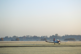 New Pictures Wall Art as Canvas, Acrylic or Metal Print Single engine aircraft on runway