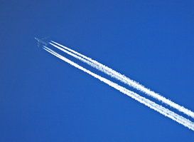 Airplane pictures Wall Art as Canvas, Acrylic or Metal Print Vapour trail, England