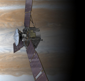 "Spacecraft & rocket pictures Wall Art as Canvas, Acrylic or Metal Print Nasa-Sonde ""Juno"" reist zum Jupiter"