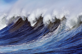 Affiches plages pour les toiles ou images murales sous acrylique par exemple Breaking wave on the North Shore of Oahu