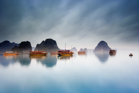 Seascapes Wall Art as Canvas, Acrylic or Metal Print Halong Bay, Vietnam