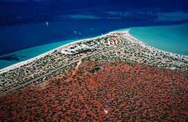 Island pictures Wall Art as Canvas, Acrylic or Metal Print Aerial of Shark Bay