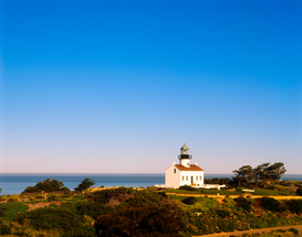 Lighthouse, harbor & fjord pictures Wall Art as Canvas, Acrylic or Metal Print Cabrillo Lighthouse, San Diego