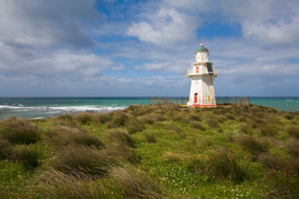 Lighthouse, harbor & fjord pictures Wall Art as Canvas, Acrylic or Metal Print Waipapa Point Lighthouse, New Zealand