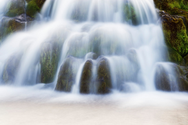 Beach pictures Wall Art as Canvas, Acrylic or Metal Print Dynjandi waterfalls and stream