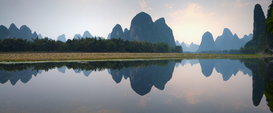 River, Lake & Waterfall Pictures Wall Art as Canvas, Acrylic or Metal Print Li River, Guilin, China
