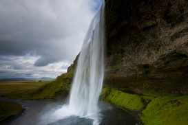 River, Lake & Waterfall Pictures Wall Art as Canvas, Acrylic or Metal Print Seljalandsfoss, Iceland