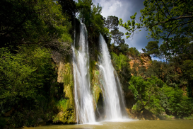 River, Lake & Waterfall Pictures Wall Art as Canvas, Acrylic or Metal Print Sillans-la-Cascade waterfall, Sillans-la-Cascade, France
