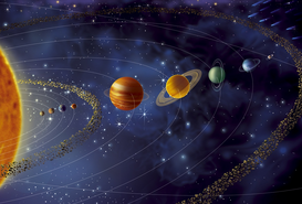 Satellite Images & Aerial Photography Wall Art as Canvas, Acrylic or Metal Print SOLAR SYSTEM